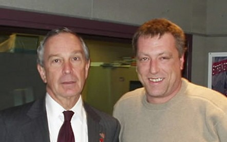 George Weber (R) with NYC Mayor Michael Bloomberg.