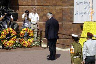 Prime Minister Binyamin Netanyahu at Yad Vashem.