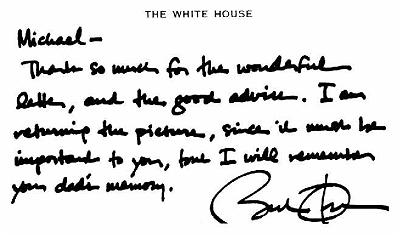 President Barack Obama's letter to Michael Powers.