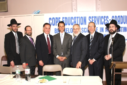Rabbi Seeve, Mr. Goldenberg, Dr. Anisman, Congressman Weiner, Rabbis Weinberger, Gertzulin and Bauman.