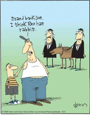 cartoon rabbis