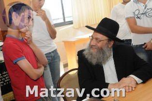 Rav Baruch Soloveitchik with Mitchazkim of Lev L'Achim.