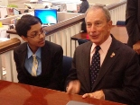 arvind-mahankali-of-bayside-hills-queens-meets-mayor-bloomberg