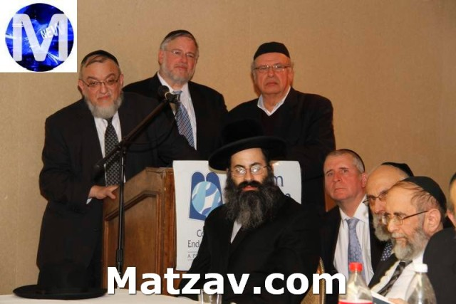 Making One's Way Through the Healthcare Maze (for Healthcare Professionals) At the podium, L to R: Rabbi Shmuel Lefkowitz, Vice President for Community Affairs for Agudath Israel of America, Rivie Schwebel and Jacob I. Friedman, Members of the Board of Chayim Aruchim and Co-Chairmen of the session.