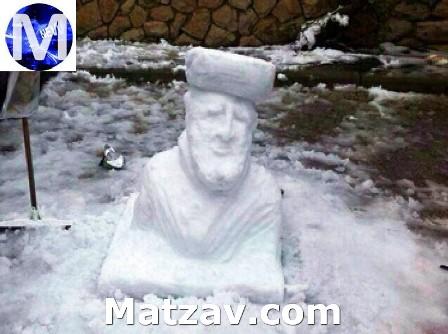 snowman-israel-rav-ovadiah-yosef