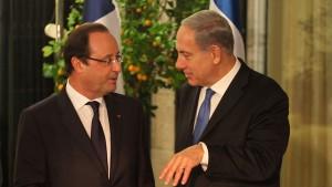 netanyahu French President Hollande