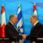 Canadian Foreign Minister Robert Nicholson and Israeli Prime Minister Benjamin Netanyahu