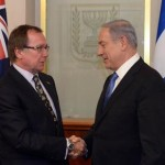 New Zealand Foreign Minister Murray McCully (left) meets with Israeli Prime Minister Benjamin Netanyahu