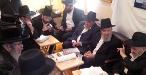 At the shivah.