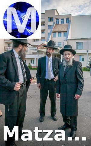 Rabbi Zeev Kamenetsky and Rabbi Sroy Levitansky with the Rosh Yeshiva outside camp