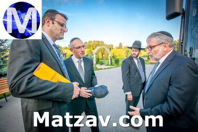 Shlomo Meir Yakov Gade and Harry Mayer in camp etz chaim