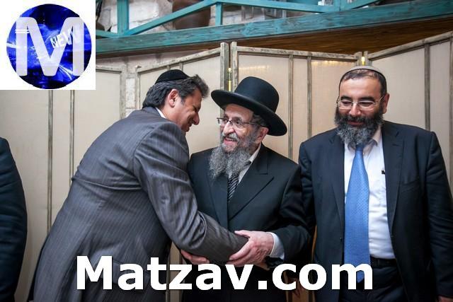 The rosh yeshiva with Eliyahu Dabakarov and Rabbi David Yushuvayev