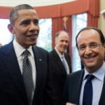 Barack Obama and French President François Hollande.