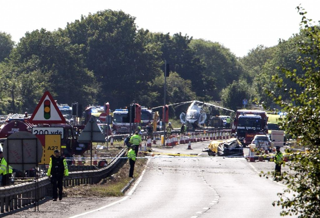 Seven killed as jet crashes at British air show