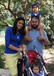 Leorah Nissimov and her family.