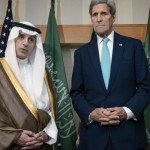 Saudi Arabia's foreign minister Adel Al-Jubeir kerry