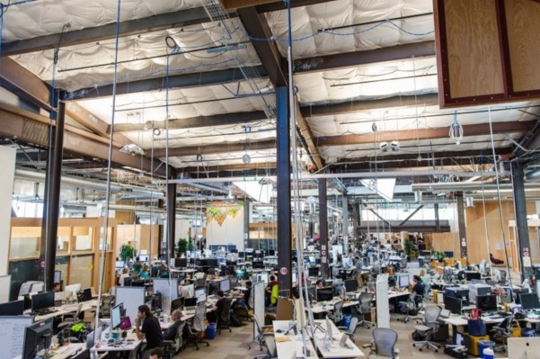facebook home office. Deep Inside Facebook\u0027s Massive New Headquarters, The Largest Open-office Workspace In World, A Rough-hewn Building That Feels Like Idea Economy\u0027s Facebook Home Office U