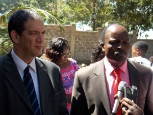 Ambassador Yohel Vilan and Migori Governor Okoth Obado in Migori