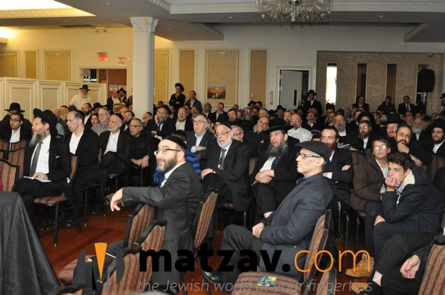 Crowd at Agudas Yisroel Beis Binyomin