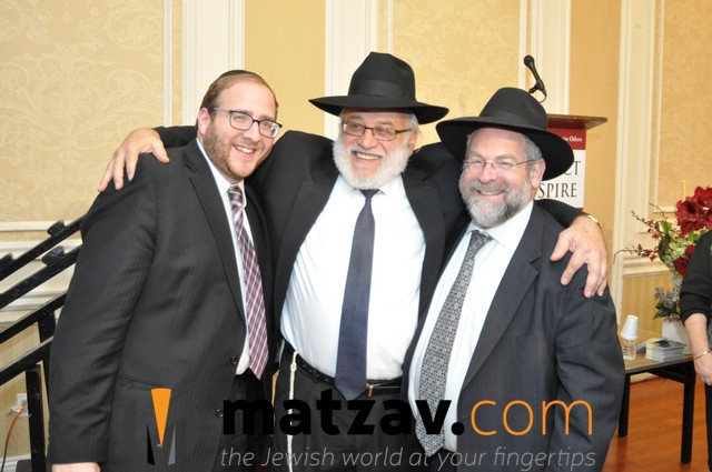 (left to right) Rabbi Yossie Friedman, Managing Director of Project Inspire, with Rabbi Yosef Wallis and Rabbi Yoni Zakutinsky