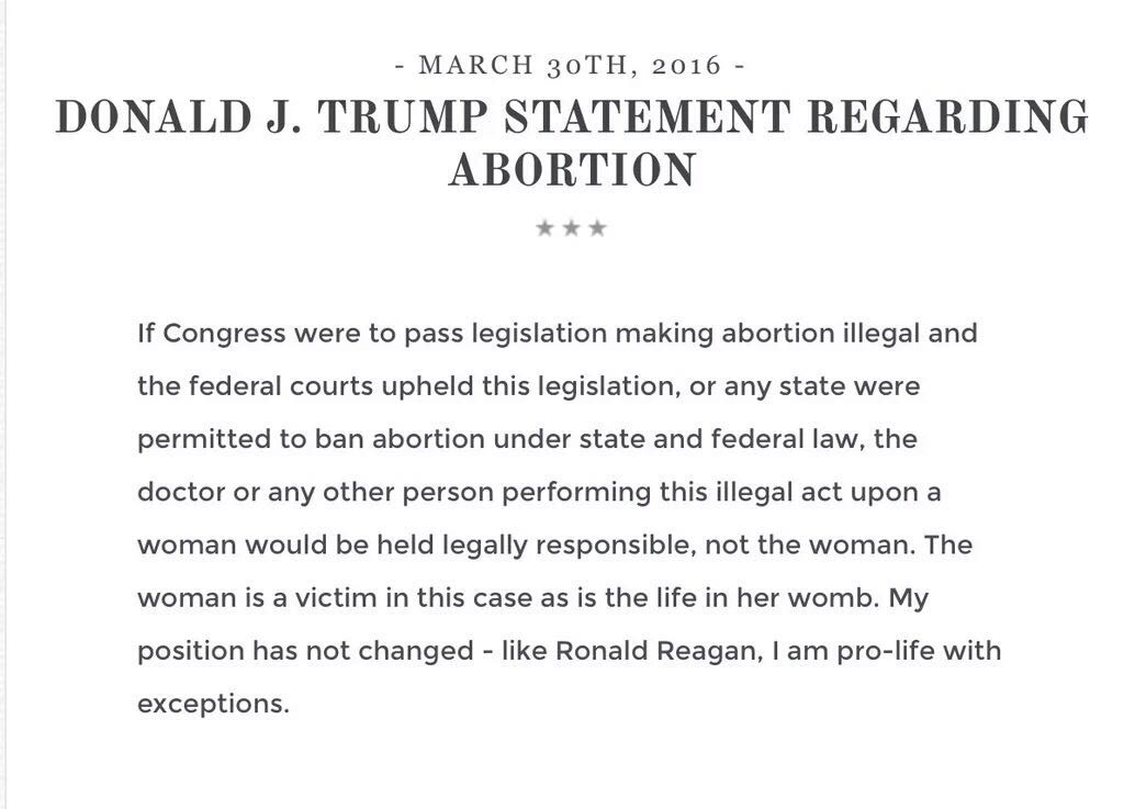 Trump Issues Clarification On Abortion | Matzav.com
