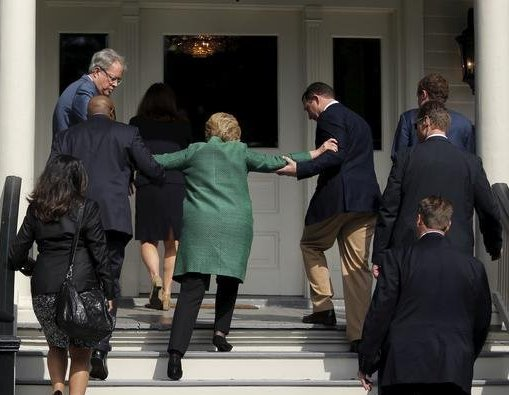 Image result for hillary using stool