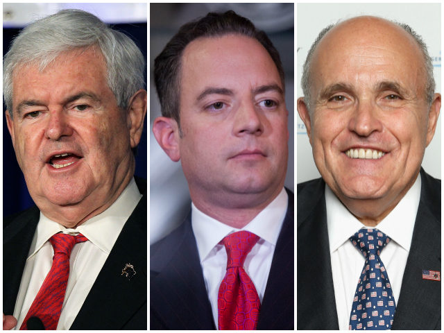 SOLID CHOICES: Report Says Gingrich, Giuliani Among Trump's ...