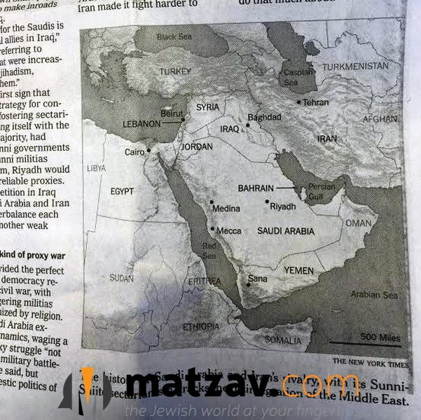 Hikind blasts new york times for excluding israel on map of middle assemblyman dov hikind d brooklyn blasted the new york times today following an article published on pg 7 in sundays edition on the iranian saudi gumiabroncs Images