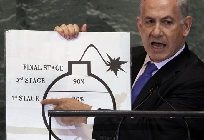 Risultati immagini per netanyahu iran
