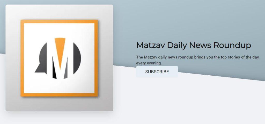 Listen to Today's News Roundup on The Matzav Podcast – 06/20