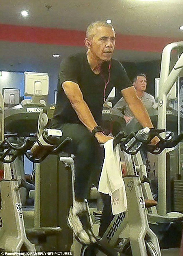 Obama Caught Working Out In Polish Hotel Gym