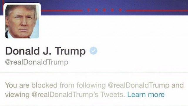 Trump Sued For Blocking Twitter Users