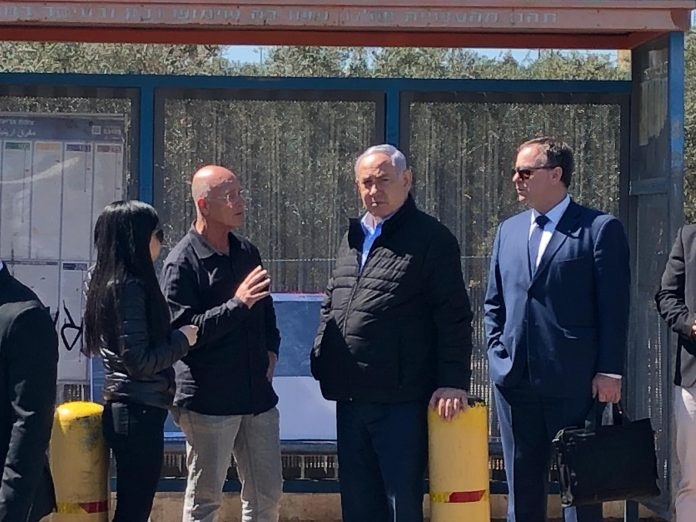 Photos, Videos: PM Netanyahu At The Scene Of The Ariel Junction