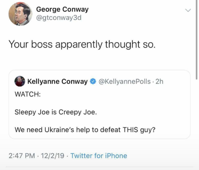 george conway tweets trump